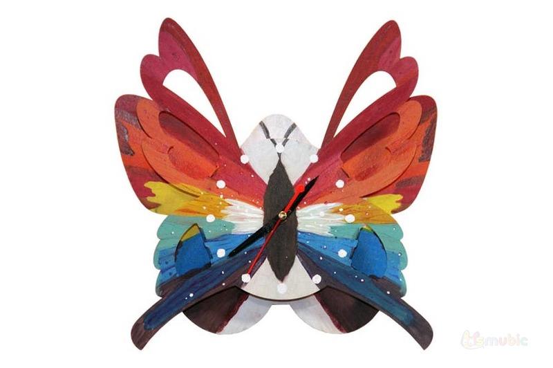 "Вариант раскраски картонные часы ""Бабочка"""