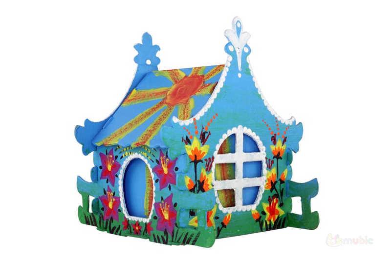 "Вариант раскраски домика-коробочки ""Ирис"" (2)"