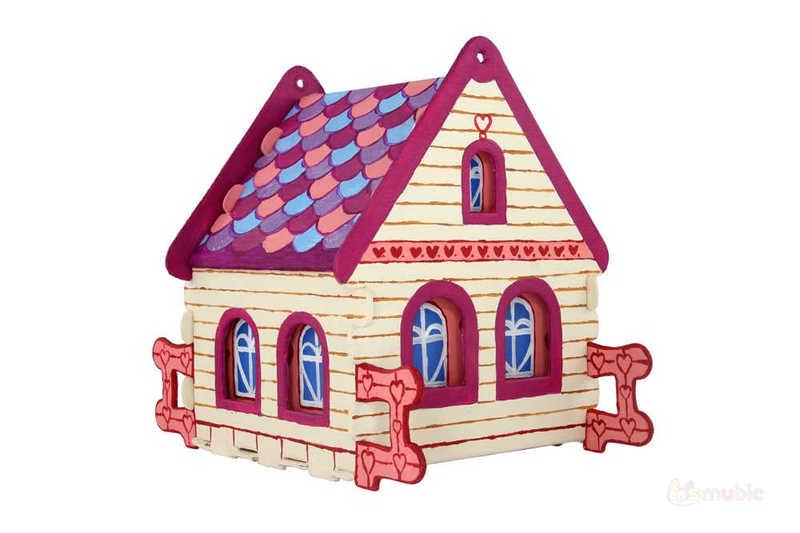 "Вариант раскраски домика-коробочки ""Каменный"" (1)"