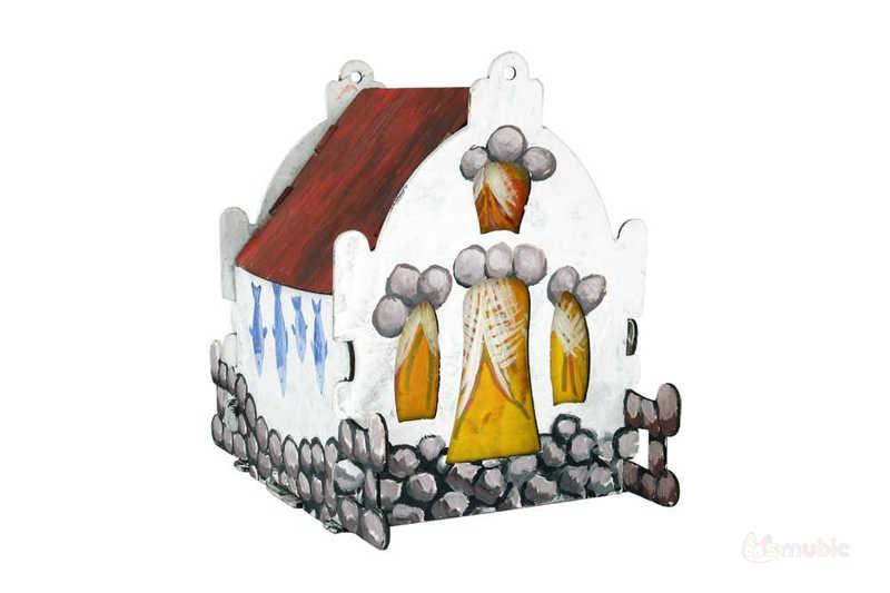 """Вариант раскраски домика-коробочки """"Камилла"""" (1)"""