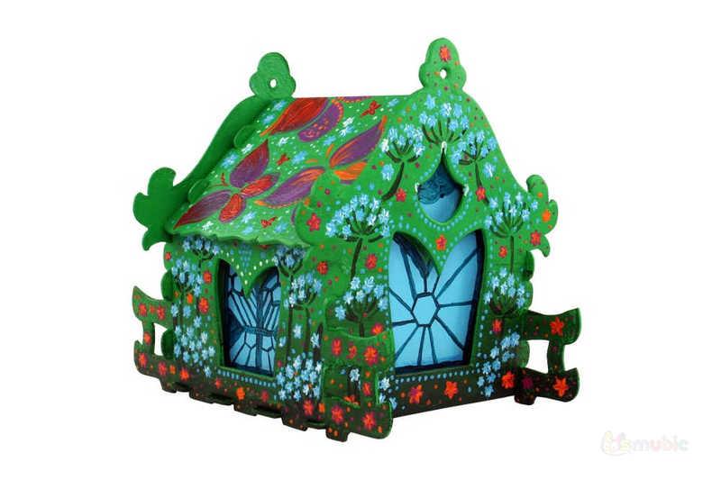 "Вариант раскраски домика-коробочки ""Ландыш"" (1)"